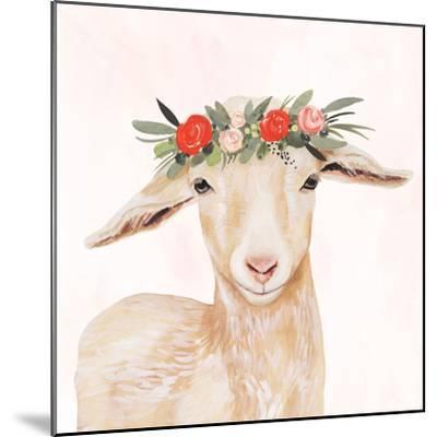 Garden Goat I-Victoria Borges-Mounted Premium Giclee Print