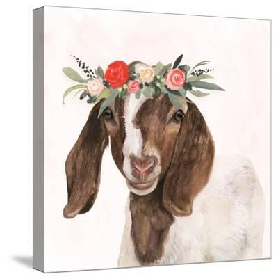 Garden Goat II-Victoria Borges-Stretched Canvas Print