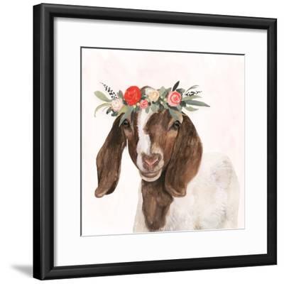 Garden Goat II-Victoria Borges-Framed Premium Giclee Print