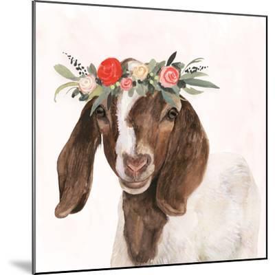 Garden Goat II-Victoria Borges-Mounted Premium Giclee Print