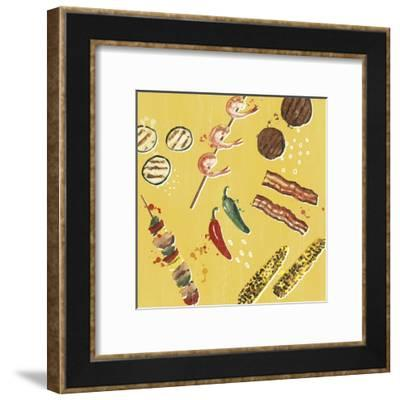 Throw it on the Grill I-Victoria Borges-Framed Art Print