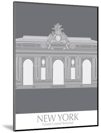 New York Grand Central Monochrome-Fab Funky-Mounted Art Print