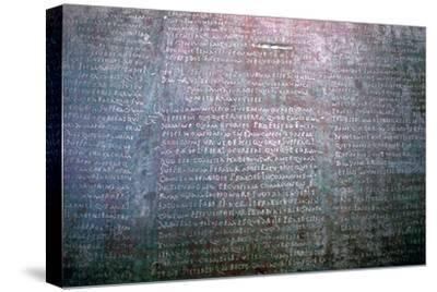 Roman Latin inscription on stone from Spain. Artist: Unknown-Unknown-Stretched Canvas Print