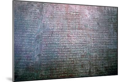 Roman Latin inscription on stone from Spain. Artist: Unknown-Unknown-Mounted Giclee Print