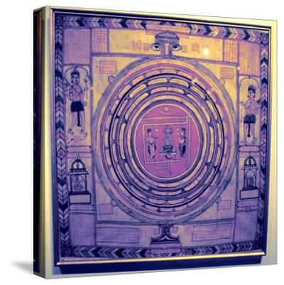 Jain cosmos, Indian. Artist: Unknown-Unknown-Stretched Canvas Print
