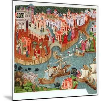 Marco Polo, Venetian merchant and explorer, 14th century. Artist: Unknown-Unknown-Mounted Giclee Print