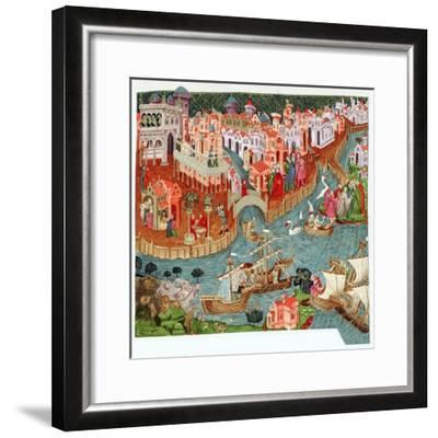 Marco Polo, Venetian merchant and explorer, 14th century. Artist: Unknown-Unknown-Framed Giclee Print