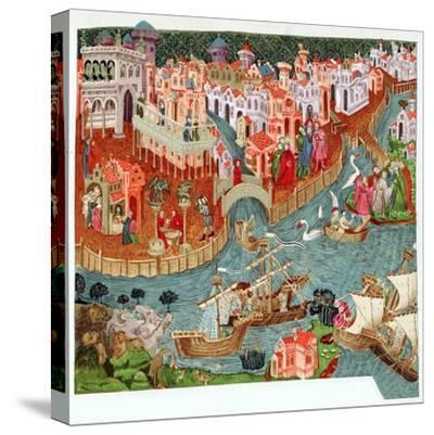 Marco Polo, Venetian merchant and explorer, 14th century. Artist: Unknown-Unknown-Stretched Canvas Print