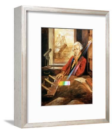 William Herschel (1738-1822) German-born English astronomer. Artist: Unknown-Unknown-Framed Giclee Print