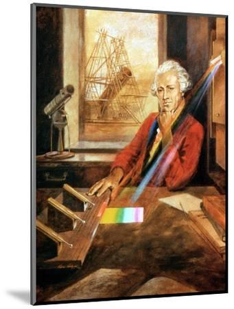 William Herschel (1738-1822) German-born English astronomer. Artist: Unknown-Unknown-Mounted Giclee Print