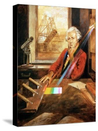 William Herschel (1738-1822) German-born English astronomer. Artist: Unknown-Unknown-Stretched Canvas Print
