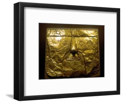 Gold mask, Chimu people, Peru, 1100-1500. Artist: Unknown-Unknown-Framed Giclee Print