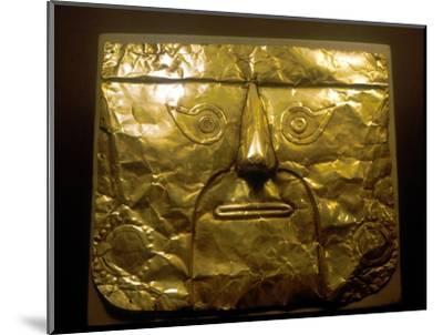 Gold mask, Chimu people, Peru, 1100-1500. Artist: Unknown-Unknown-Mounted Giclee Print