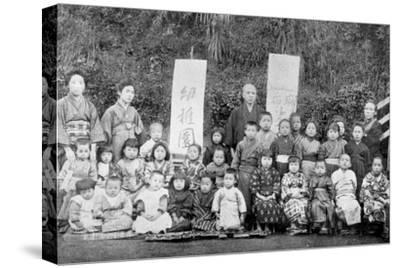 Salvation Army school, Japan, c1900. Artist: Unknown-Unknown-Stretched Canvas Print