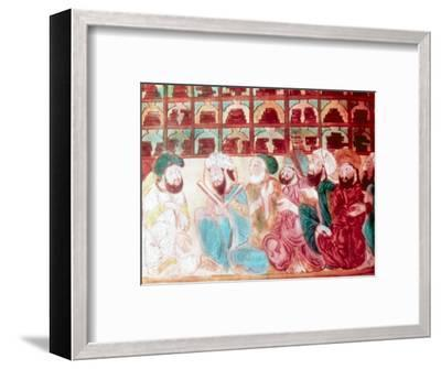 Scholars in the Abode of Wisdom, a science academy, Baghdad, Iraq, 14th century. Artist: Unknown-Unknown-Framed Giclee Print