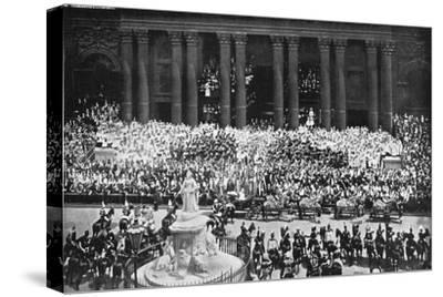 The ceremony of thanksgiving at St Paul's Cathedral, London, June 22nd, 1897. Artist: Unknown-Unknown-Stretched Canvas Print