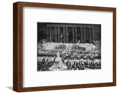 The ceremony of thanksgiving at St Paul's Cathedral, London, June 22nd, 1897. Artist: Unknown-Unknown-Framed Photographic Print