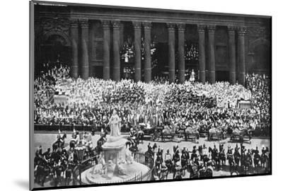 The ceremony of thanksgiving at St Paul's Cathedral, London, June 22nd, 1897. Artist: Unknown-Unknown-Mounted Photographic Print