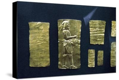 Gold plaques from the Oxus treasure, Achaemenid Persian, 5th-4th century BC. Artist: Unknown-Unknown-Stretched Canvas Print