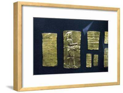 Gold plaques from the Oxus treasure, Achaemenid Persian, 5th-4th century BC. Artist: Unknown-Unknown-Framed Giclee Print