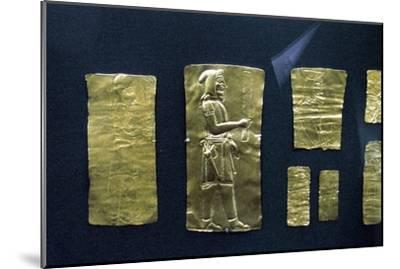 Gold plaques from the Oxus treasure, Achaemenid Persian, 5th-4th century BC. Artist: Unknown-Unknown-Mounted Giclee Print