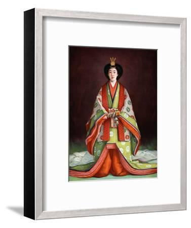 Empress Nagako of Japan in her coronation garments, c1924. Artist: Unknown-Unknown-Framed Giclee Print
