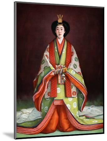 Empress Nagako of Japan in her coronation garments, c1924. Artist: Unknown-Unknown-Mounted Giclee Print