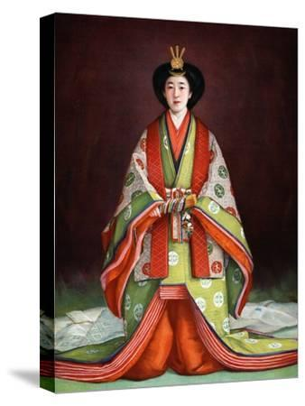 Empress Nagako of Japan in her coronation garments, c1924. Artist: Unknown-Unknown-Stretched Canvas Print
