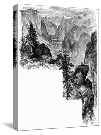 Entrance of Yosemite Valley, California, USA, c1875. Artist: Unknown-Unknown-Stretched Canvas Print