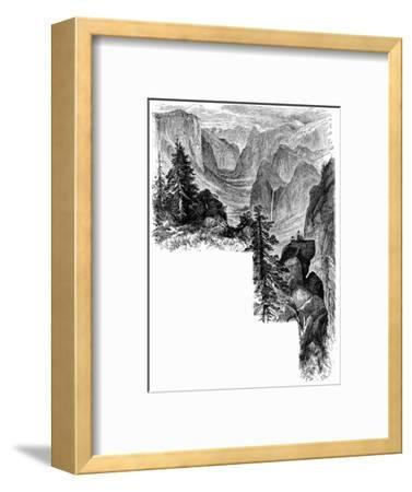 Entrance of Yosemite Valley, California, USA, c1875. Artist: Unknown-Unknown-Framed Giclee Print