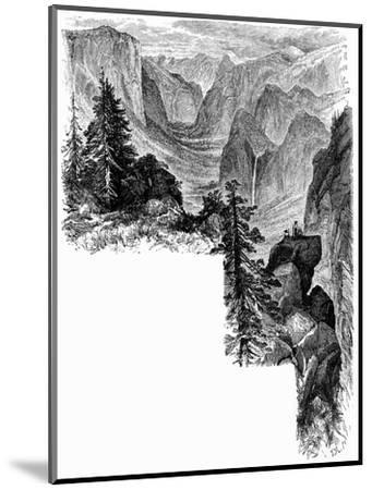 Entrance of Yosemite Valley, California, USA, c1875. Artist: Unknown-Unknown-Mounted Giclee Print