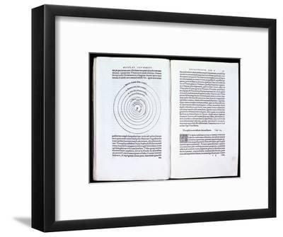 Copernicus' heliocentric model of the Universe, 1543. Artist: Unknown-Unknown-Framed Giclee Print