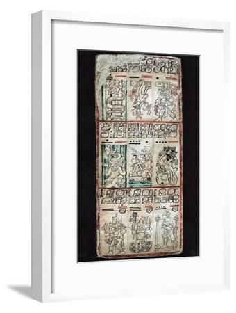 Page from the Dresden Codex, Maya manuscript. Artist: Unknown-Unknown-Framed Giclee Print