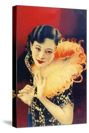 Shanghai advertising poster, c1930s. Artist: Unknown-Unknown-Stretched Canvas Print