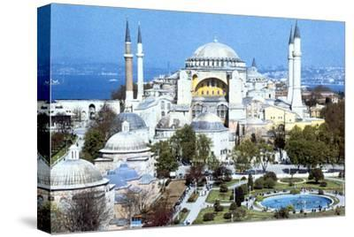 Hagia Sophia, Istanbul (Constantinople), Turkey, 1980s. Artist: Unknown-Unknown-Stretched Canvas Print