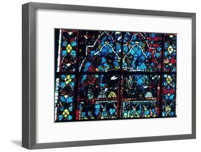 Money changers, stained glass, Chartres Cathedral, Chartres, France. Artist: Unknown-Unknown-Framed Giclee Print