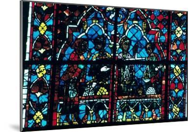 Money changers, stained glass, Chartres Cathedral, Chartres, France. Artist: Unknown-Unknown-Mounted Giclee Print