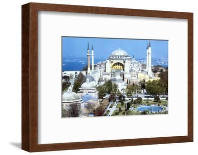 Hagia Sophia, Istanbul (Constantinople), Turkey, 1980s. Artist: Unknown-Unknown-Framed Photographic Print