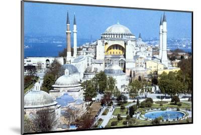 Hagia Sophia, Istanbul (Constantinople), Turkey, 1980s. Artist: Unknown-Unknown-Mounted Photographic Print