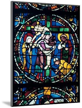 The Descent from the Cross, stained glass, Chartres Cathedral, France, 1194-1260. Artist: Unknown-Unknown-Mounted Giclee Print