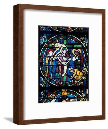 The Descent from the Cross, stained glass, Chartres Cathedral, France, 1194-1260. Artist: Unknown-Unknown-Framed Giclee Print