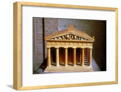Model of the Temple of Aphaia at the Isle of Aegina, Greece, built c500-c480 BC. Artist: Unknown-Unknown-Framed Giclee Print