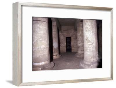 Interior of the Temple of Sethos I (Seti I), Abydos, Egypt, 19th Dynasty, c1280 BC. Artist: Unknown-Unknown-Framed Giclee Print