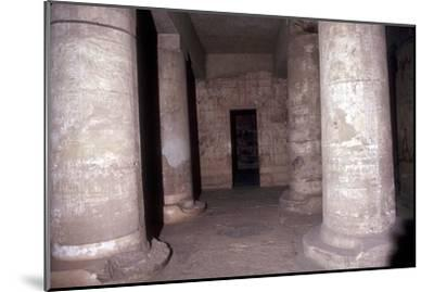 Interior of the Temple of Sethos I (Seti I), Abydos, Egypt, 19th Dynasty, c1280 BC. Artist: Unknown-Unknown-Mounted Giclee Print