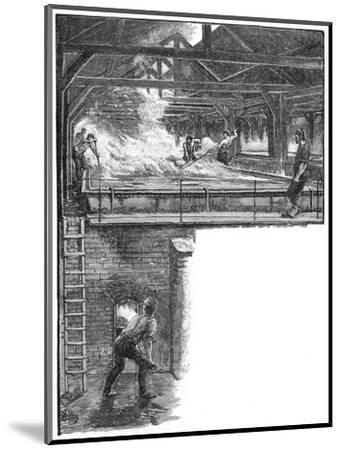 Shovelling salt at South Durham Salt Works, 1884. Artist: Unknown-Unknown-Mounted Giclee Print