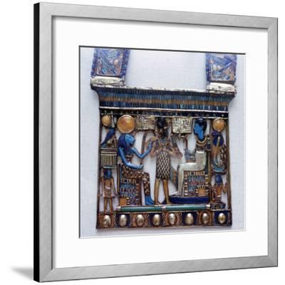 Pectoral jewel from the tomb of Tutankhamun, Ancient Egyptian, c1325 BC. Artist: Unknown-Unknown-Framed Giclee Print