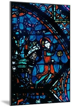 Charlemagne prays, stained glass, Chartres Cathedral, France, c1225. Artist: Unknown-Unknown-Mounted Giclee Print