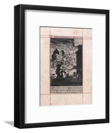 Noah's Ark - the animals going in two by two, 1716. Artist: Unknown-Unknown-Framed Giclee Print