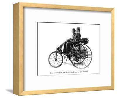 Three-wheeled Benz motor car, 1886. Artist: Unknown-Unknown-Framed Photographic Print