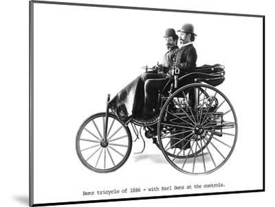 Three-wheeled Benz motor car, 1886. Artist: Unknown-Unknown-Mounted Photographic Print
